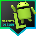 Zooper L Material Design icon