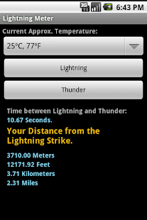 Lightning Meter- screenshot thumbnail
