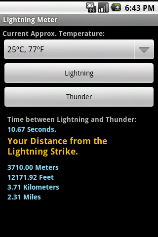 Lightning Meter- screenshot