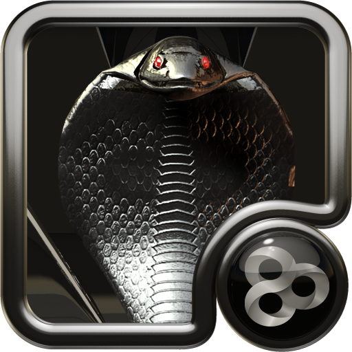 GO Launcher theme Black Cobra