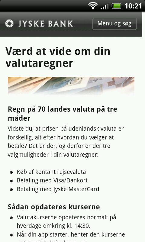 Valutaregner - screenshot