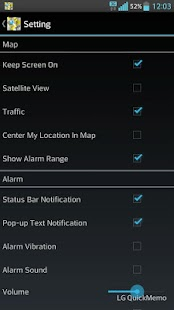 Location Alarm – Miniaturansicht des Screenshots