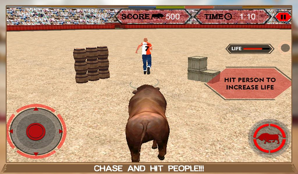 Angry Bull Attack Arena Sim 3D- screenshot