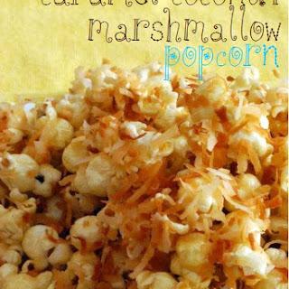 Caramel Coconut Marshmallow Popcorn.