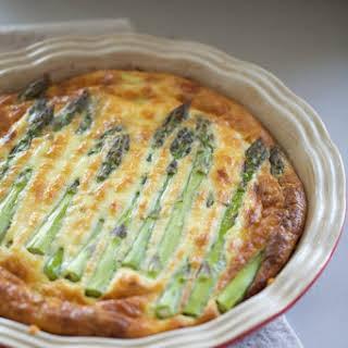 Crustless Asparagus Quiche.