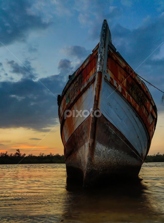 Standing still against time & tide by Rustam Razali - Transportation Boats ( water, device, transportation )