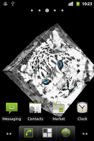 Snow Leopard Live Wallpaper - screenshot