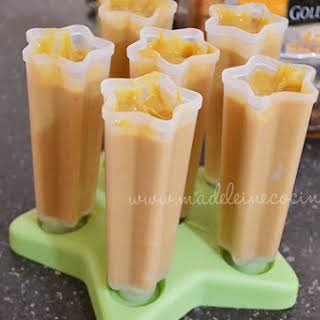 Pumpkin and Yogurt Popsicles.