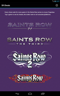 Saints Row Cheats (all games) - screenshot thumbnail