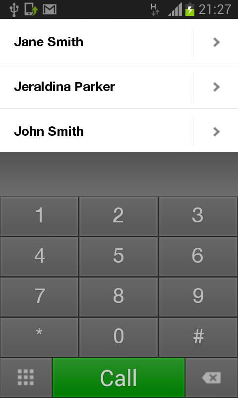Alpha Phone:SMS Dialer Contact - screenshot