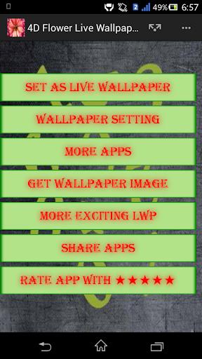 Télécharger 4d Flower Live Wallpaper Google Play Softwares