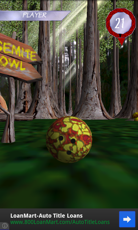 HyperBowl Forest - screenshot