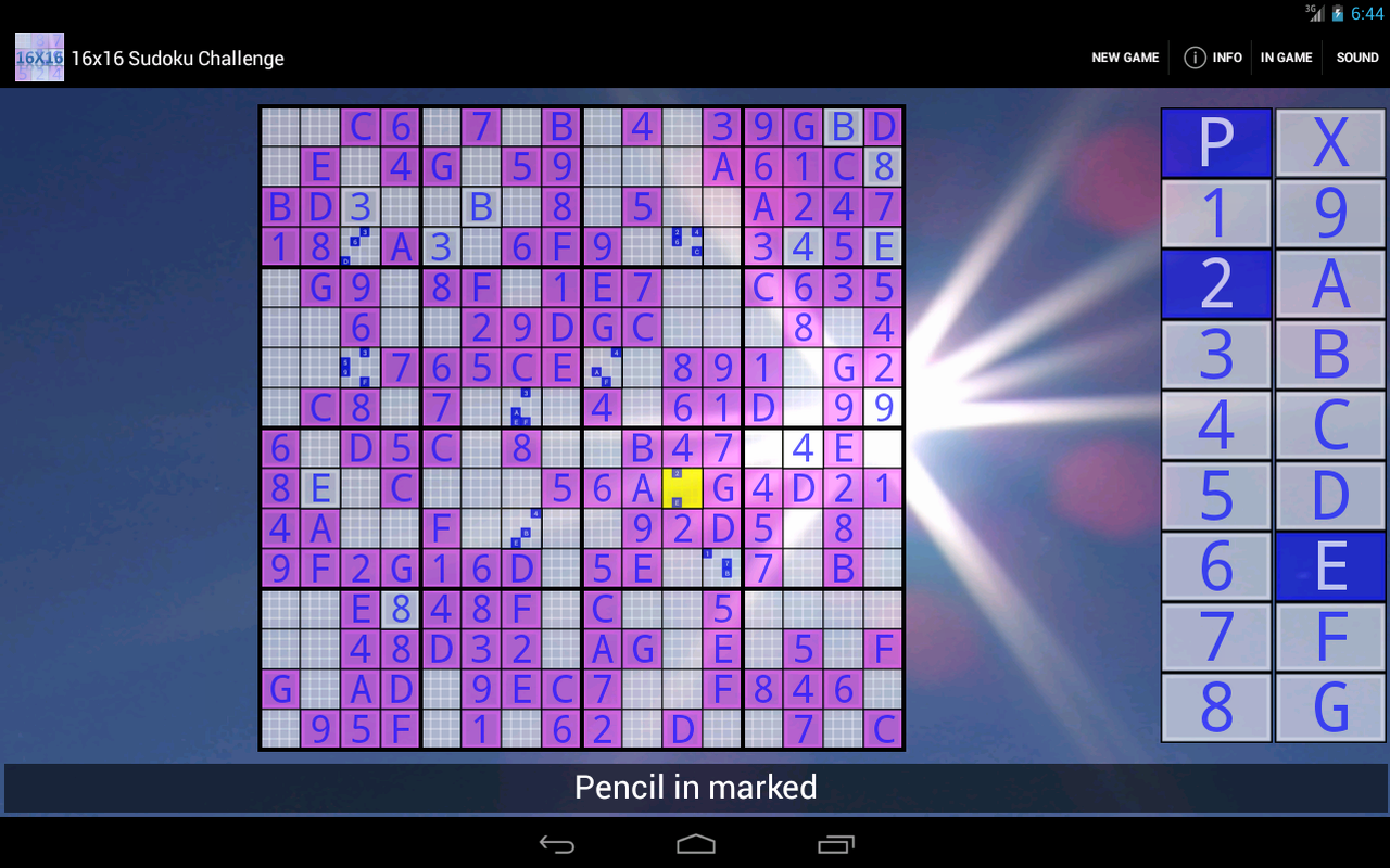 16x16 Sudoku Challenge HD - screenshot