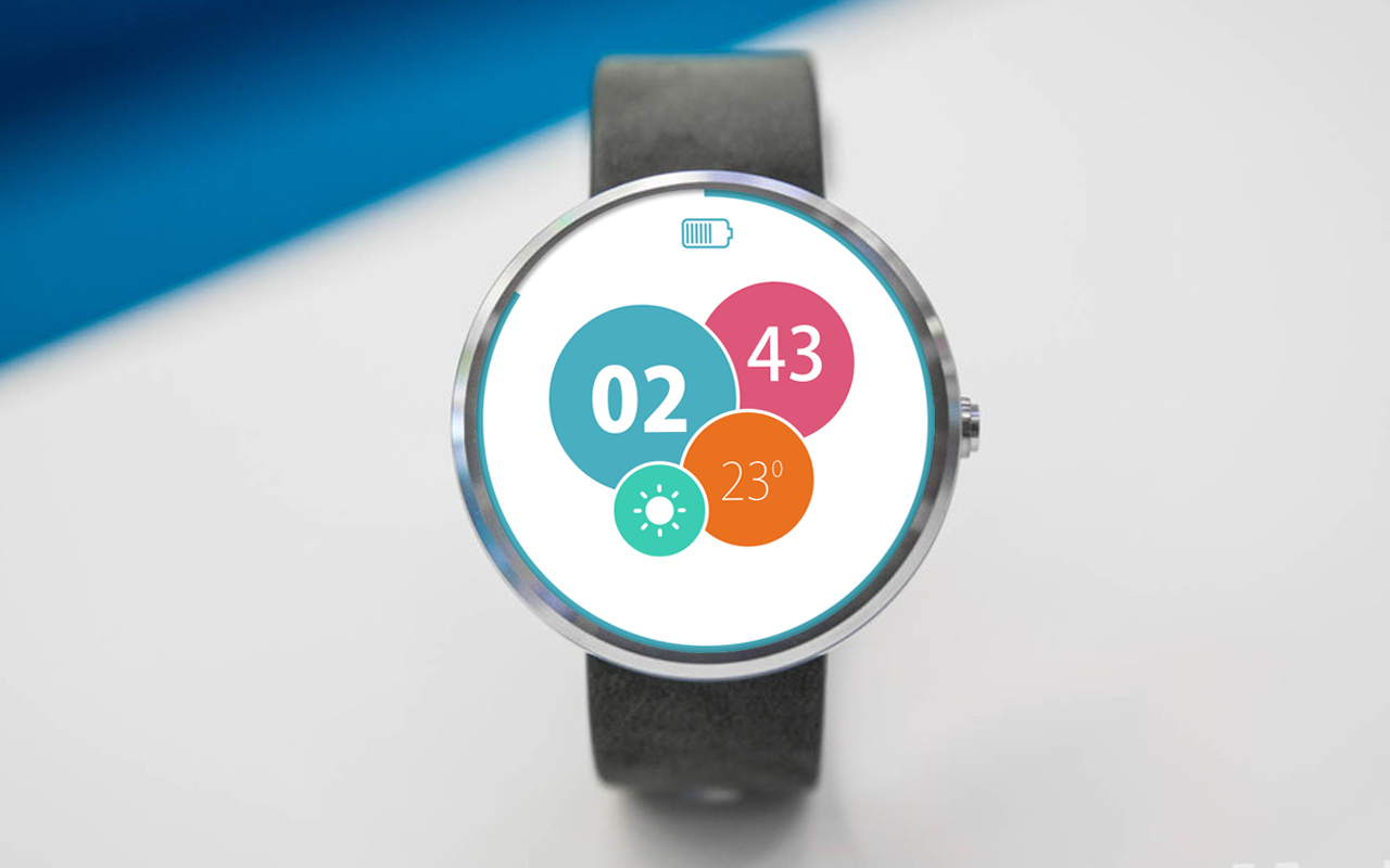 Bubbly Watch Face For Moto 360- screenshot
