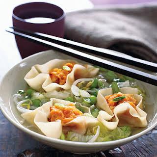 Miso Soup with Sweet Potato Dumplings.