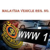 Malaysia Vehicle Reg. No.