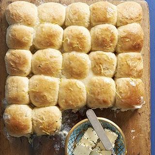Lemon Rosemary potato rolls