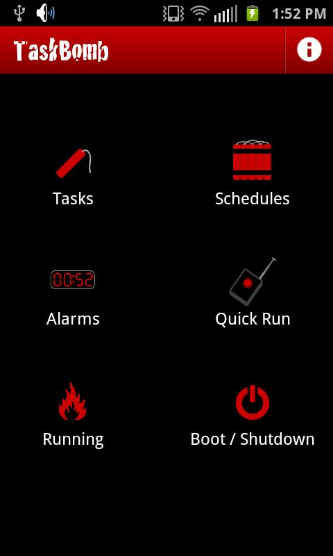 TaskBomb task scheduler- screenshot