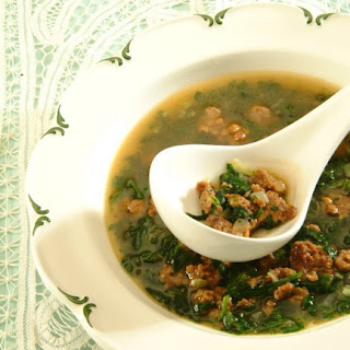 Spinach-Veal Soup.