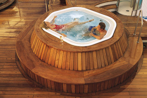 Regent-Seven-Seas-Navigator-whirlpool - Head to the top deck of Seven Seas Navigator and relax in the heated whirlpools.