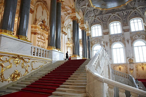 The grand Hermitage Museum, included on Royal Caribbean's shore excursions in St. Petersburg, Russia.