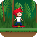 Skater Forest Escape Jump 3D icon