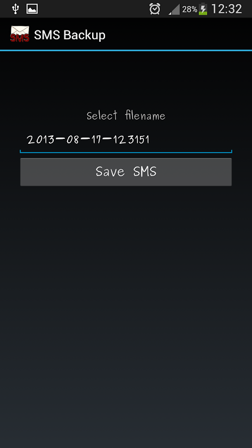 SMS Backup - screenshot