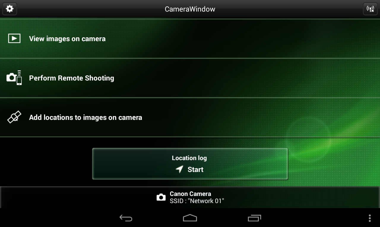 Canon CameraWindow - screenshot