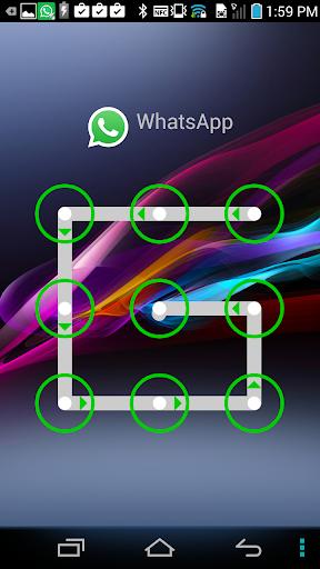 模式鎖定為WhatsApp的