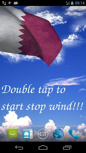 3D Qatar Flag Live Wallpaper +
