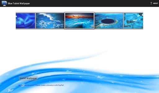Blue Tablet Wallpaper