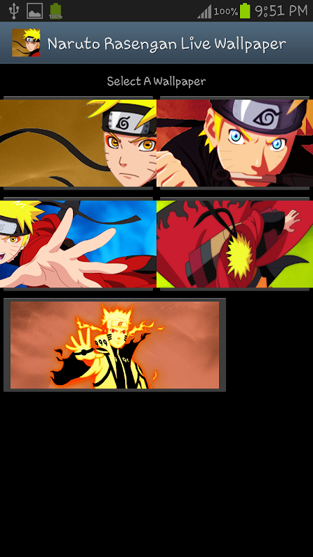 Naruto Rasengan Live Wallpaper Screenshots