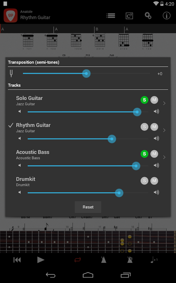 Guitar Pro- screenshot