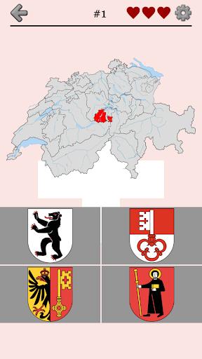Swiss Cantons Switzerland Quiz