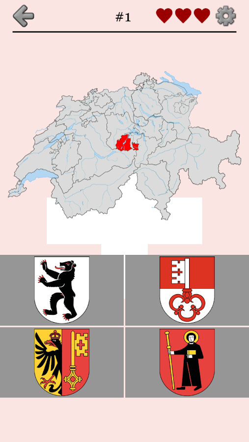 Swiss Cantons - Switzerland Quiz- screenshot
