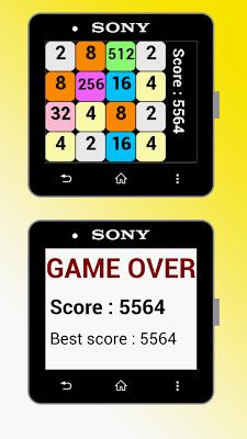 2048 for SmartWatch 2 - screenshot