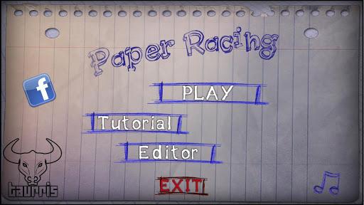 Paper Racing Cars