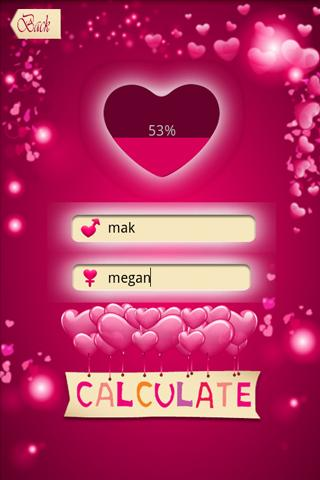 Love Percentage Calculator - screenshot