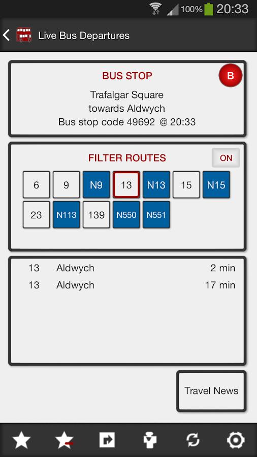 London Bus Master + Countdown - screenshot