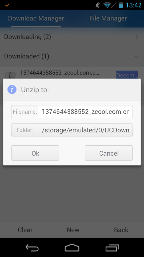 UnZip & Unrar - Zip file - screenshot