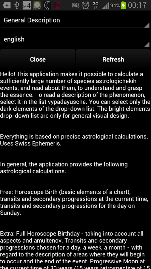 Horoscope:Slovenčina(horoskop)- screenshot
