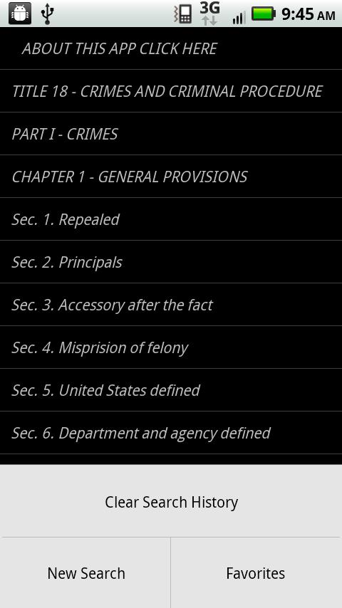 USLaw 18 USC - Criminal Law- screenshot