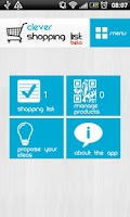 Screenshot of Clever Shopping List
