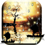 Sunset Rain Live Wallpaper