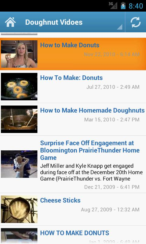 Doughnut Recipes - screenshot