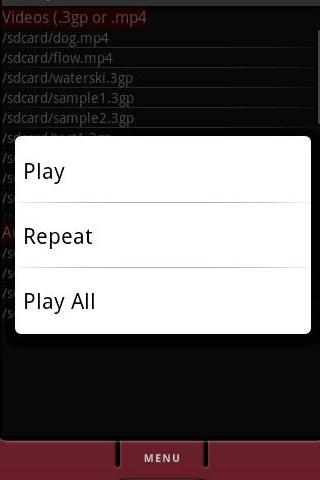 AVPlayer Audio Video Player - screenshot