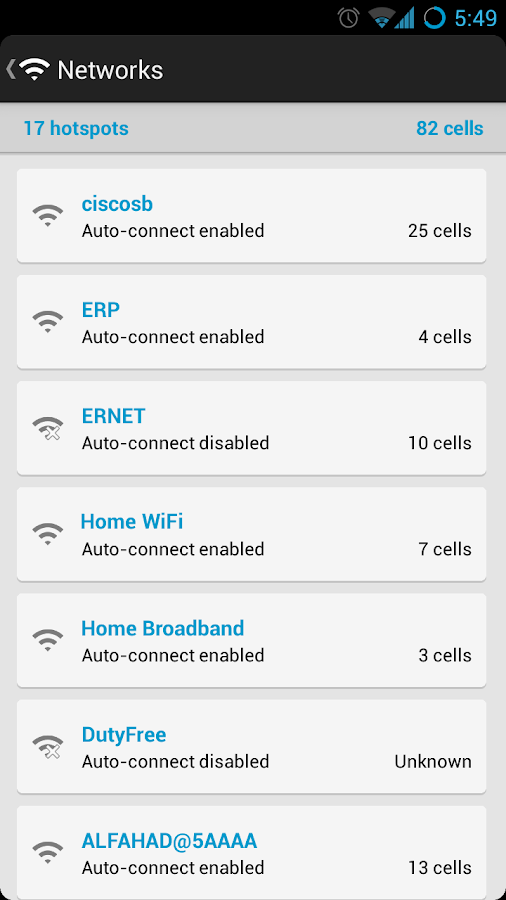 Smart WiFi Toggler - screenshot