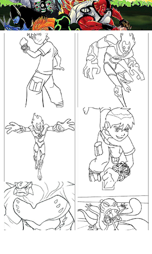 All Heros Paint Drawing Kids