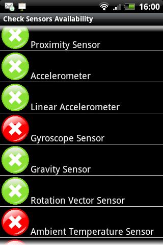 センサーの状況をチェックする