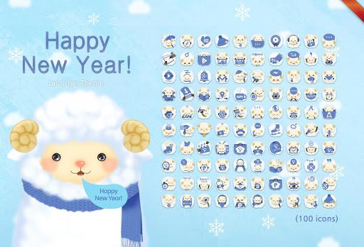Happy New Year 확장팩 런처플래닛 라이브테마
